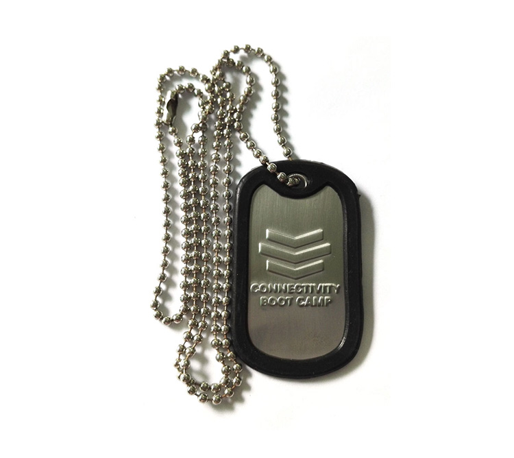 Dogtag Stainless Rolled Edge